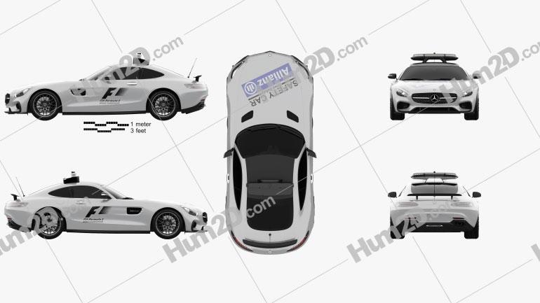 Mercedes-Benz AMG GT S F1 Safety Car 2015 car clipart