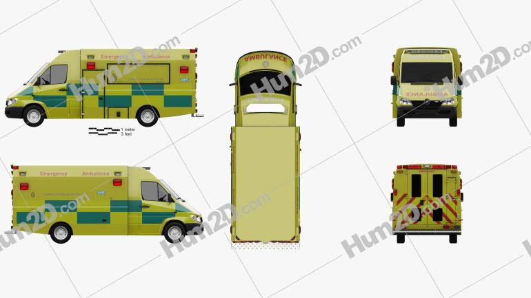 Mercedes-Benz Sprinter (W903) Krankenwagen 2000 clipart