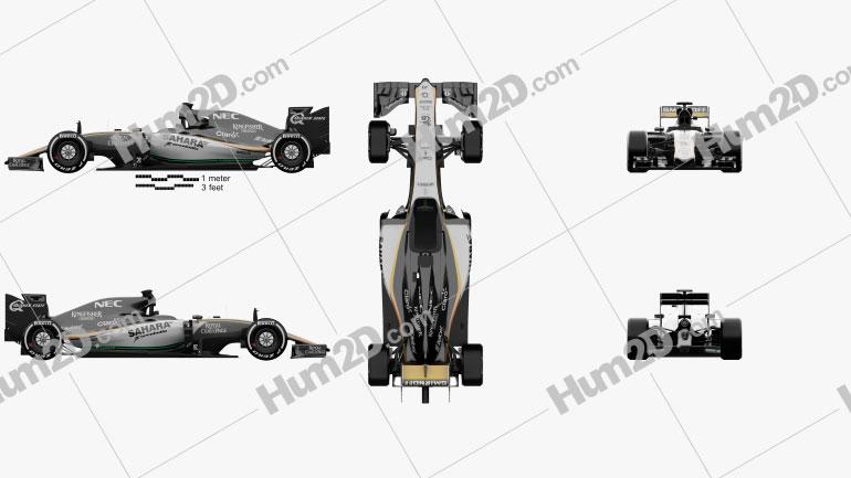 Force India VJM08 2015 car clipart