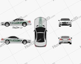 Mercedes-Benz SL-class (R321) AMG Polizei Dubai 2013 car clipart
