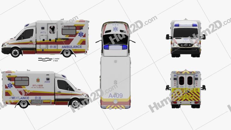 Mercedes-Benz Sprinter (W906) Krankenwagen 2011 clipart