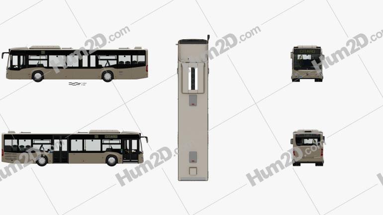 Mercedes-Benz Citaro (O530) Bus with HQ interior 2011 clipart