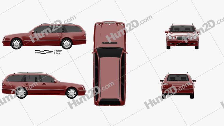 Mercedes-Benz Classe E wagon 1999 car clipart
