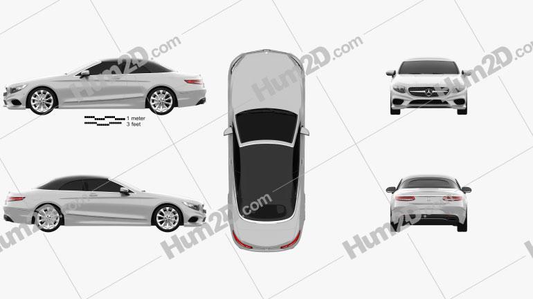 Mercedes-Benz S-class Cabriolet 2014 car clipart