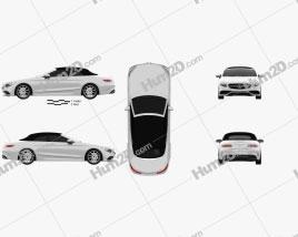 Mercedes-Benz S-class AMG Cabriolet 2014 car clipart