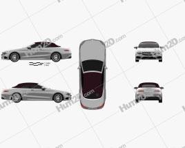 Mercedes-Benz S-class AMG Line Kabriolett 2014 car clipart