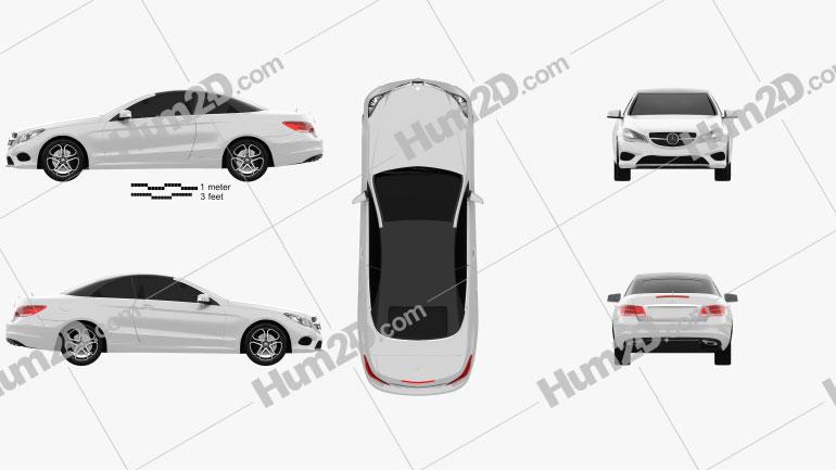 Mercedes-Benz E-Class convertible 2014 car clipart