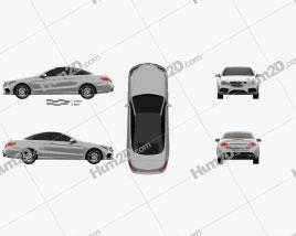 Mercedes-Benz E-Class Convertible AMG Sports Package 2014 car clipart