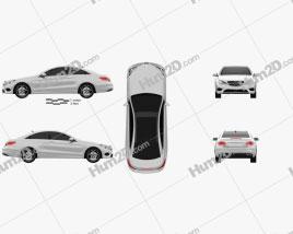 Mercedes-Benz E-Class Coupe 2014 car clipart