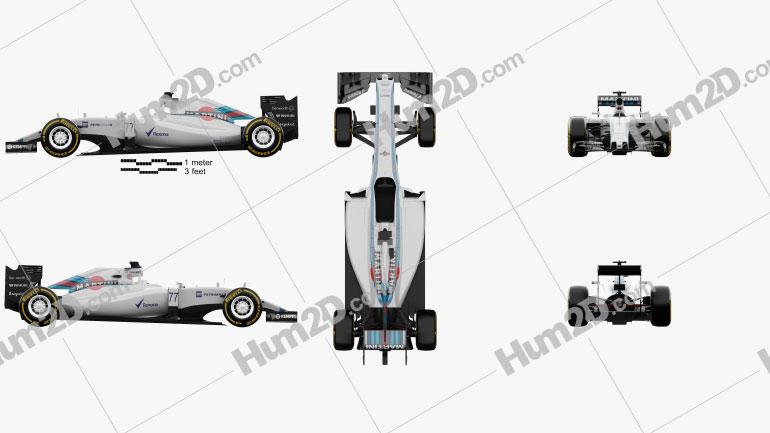 Williams FW37 2015 car clipart