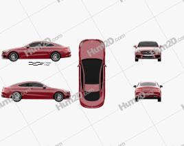 Mercedes-Benz C-Class AMG Line Coupe 2015 car clipart