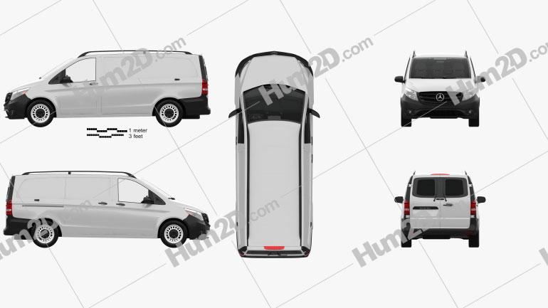 Mercedes-Benz Metris Panel Van with HQ interior 2014 clipart