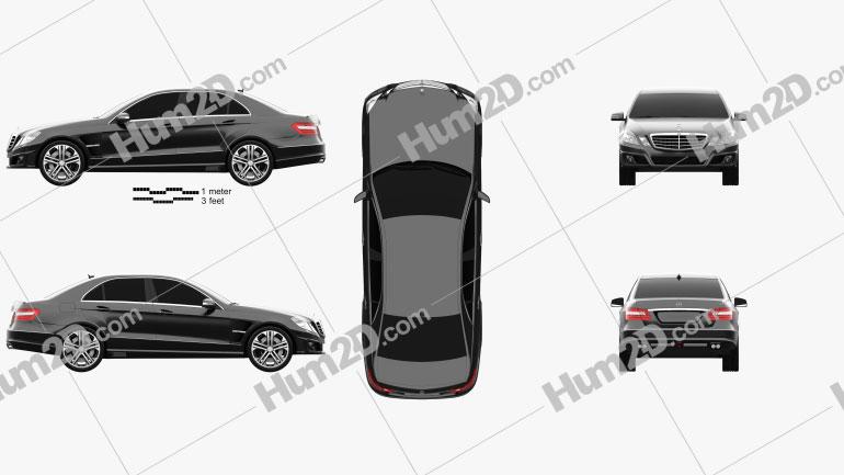 Mercedes-Benz E-Class Brabus 2010 car clipart