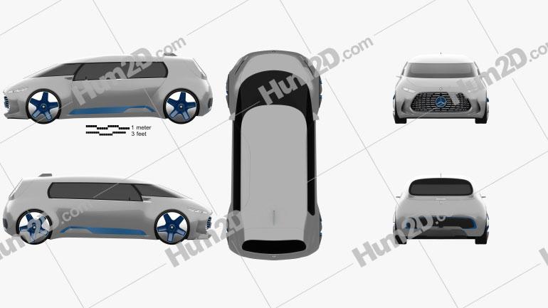 Mercedes-Benz Vision Tokyo 2015 car clipart
