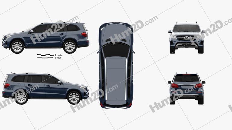 Mercedes-Benz GLS-Class 2015 car clipart