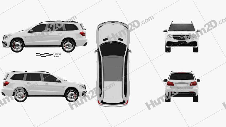 Mercedes-Benz GLS-Class AMG 2015 car clipart