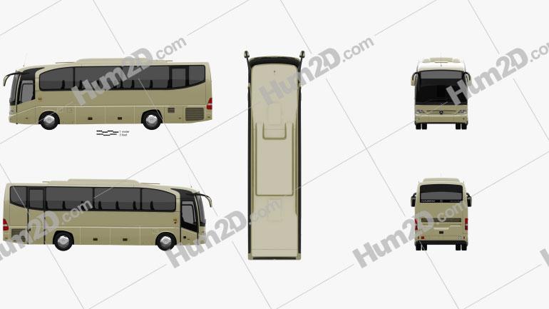 Mercedes-Benz Tourino (O510) Bus 2006 clipart