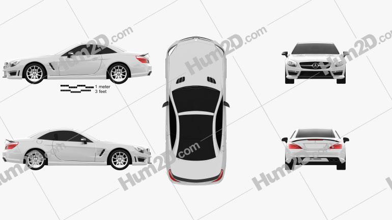 Mercedes-Benz SL-Class (R321) AMG 2013 car clipart