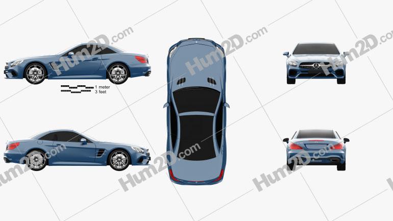 Mercedes-Benz SL-Class (R231) 2015 car clipart