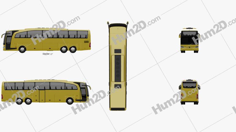 Mercedes-Benz Travego M Bus 2009 clipart