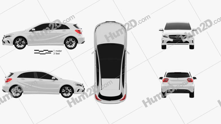 Mercedes-Benz A-Class Urban Line 2015 car clipart