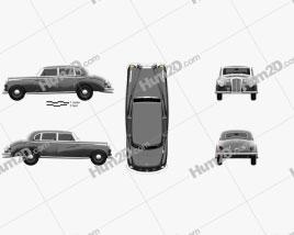 Mercedes-Benz 300 (W186) Limousine 1951 car clipart
