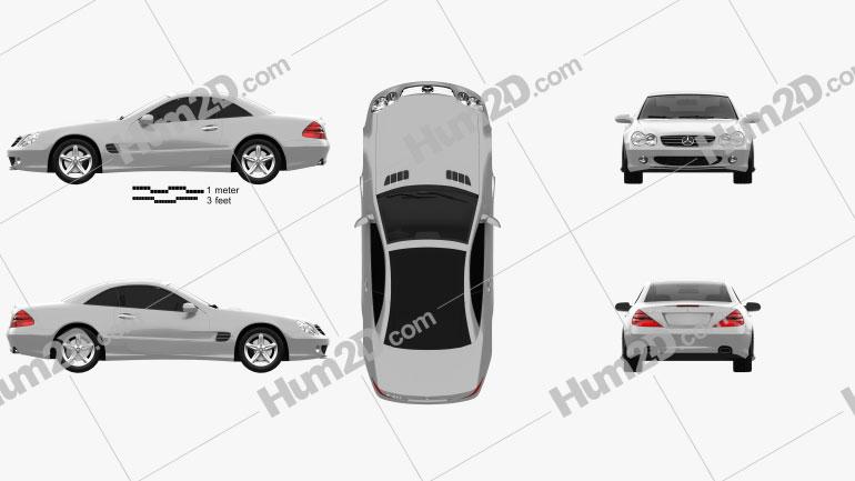 Mercedes-Benz SL-Class (R230) 2001 car clipart