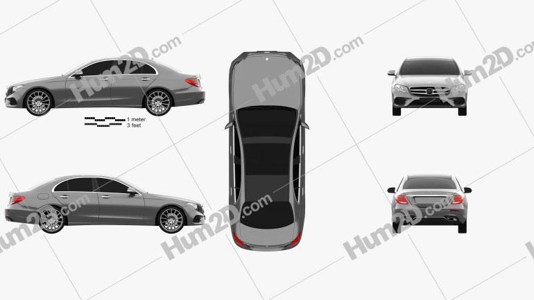 Mercedes-Benz E-Klasse (W213) AMG Line 2016 car clipart