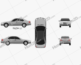 Mercedes-Benz E-Class (W211) 2006 car clipart