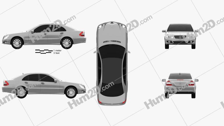 Mercedes-Benz E-Class (W211) 2006 Clipart Image