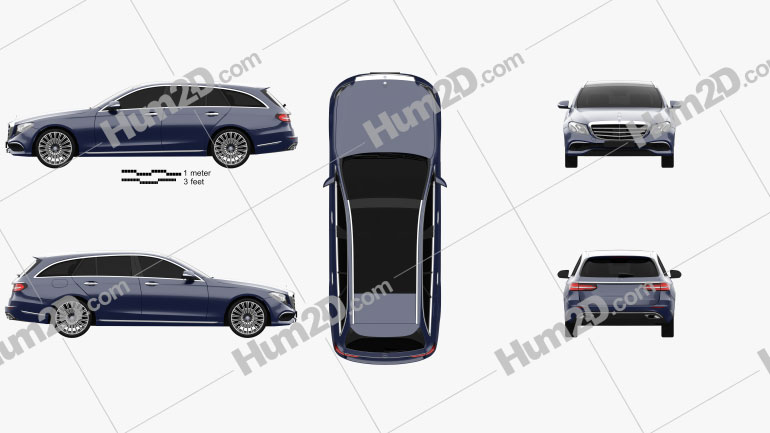 Mercedes-Benz E-Class (S213) Exclusive Line estate 2016 car clipart