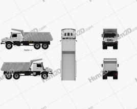 Mercedes-Benz Zetros Meiller Hinterkipper M325 Dump Truck 2019 clipart