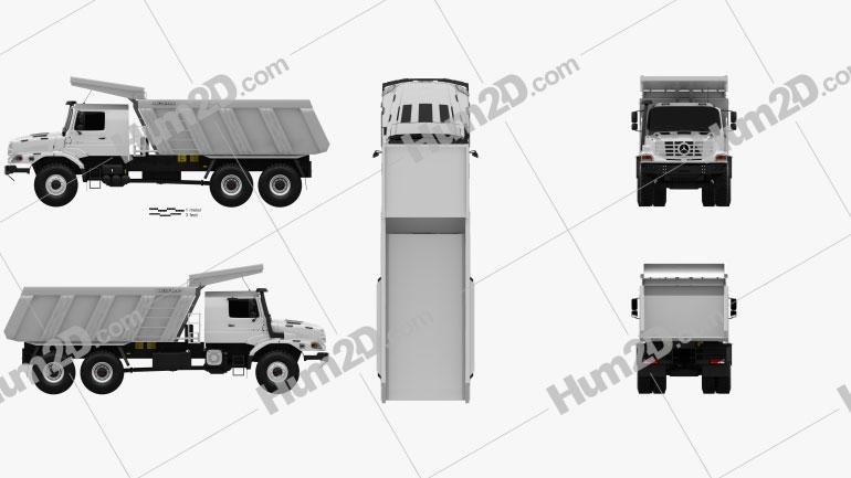 Mercedes-Benz Zetros Meiller Hinterkipper M325 Dump Truck 2019 Clipart Image