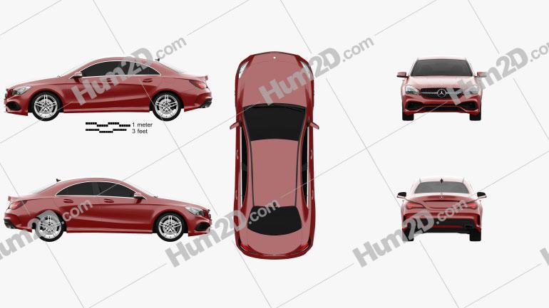 Mercedes-Benz CLA-Class (C117) AMG 2016 Clipart Image
