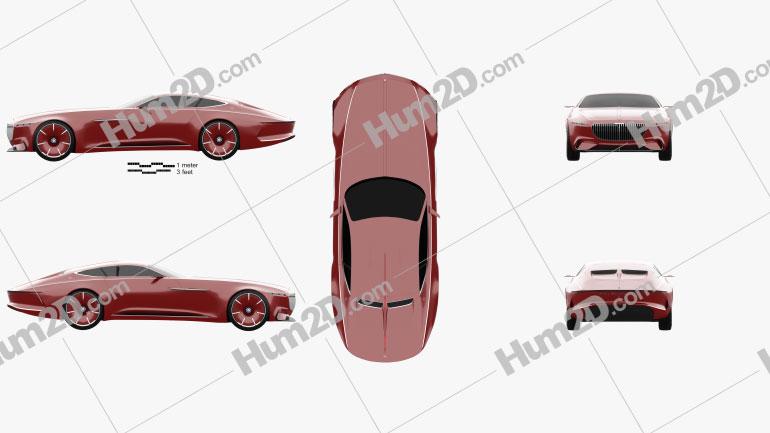 Mercedes-Benz Vision Maybach 6 2016 car clipart