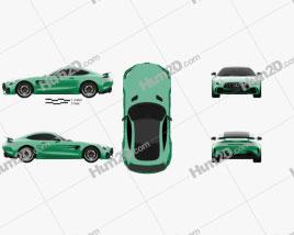 Mercedes-Benz AMG GT R 2016 car clipart