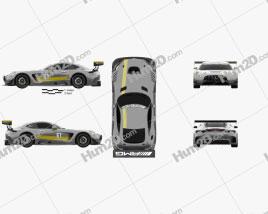 Mercedes-Benz AMG GT3 2015 car clipart