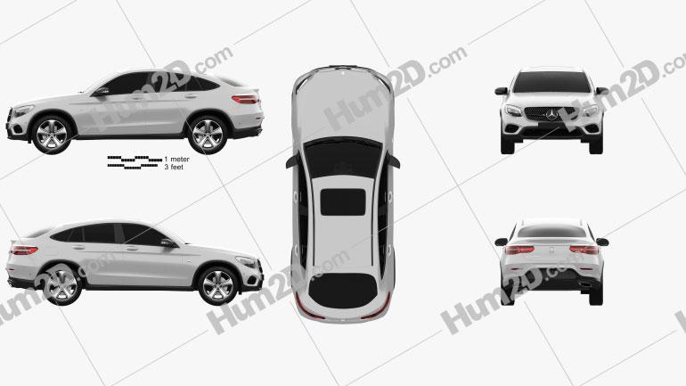 Mercedes-Benz GLC-Class (C253) Coupe 2016 car clipart