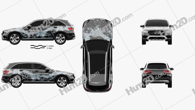 Mercedes-Benz GLC-Class (X205) F-Cell 2016 car clipart