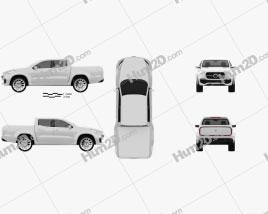 Mercedes-Benz X-class concept stylish explorer 2017 car clipart