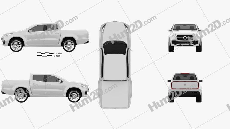 Mercedes-Benz X-class concept stylish explorer 2017 Clipart Image