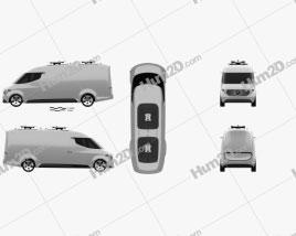 Mercedes-Benz Vision Van 2016 clipart