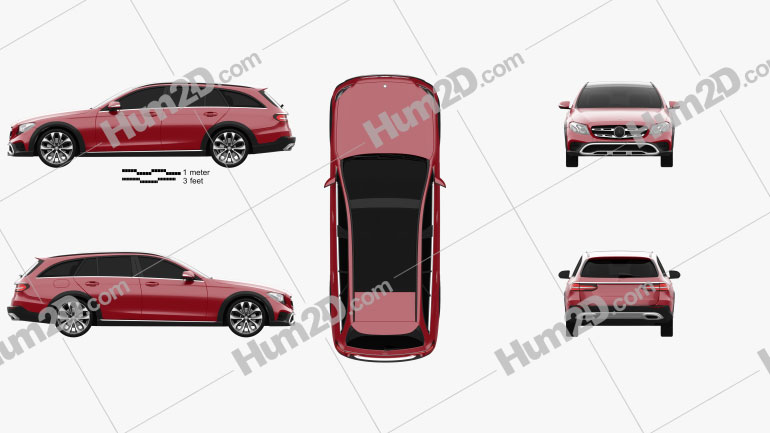 Mercedes-Benz E-Class (S213) All-Terrain 2016 car clipart