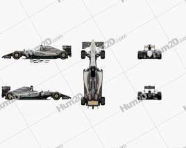 Force India VJM09 2016 car clipart