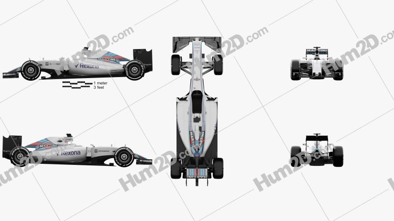 Williams FW38 2016 car clipart