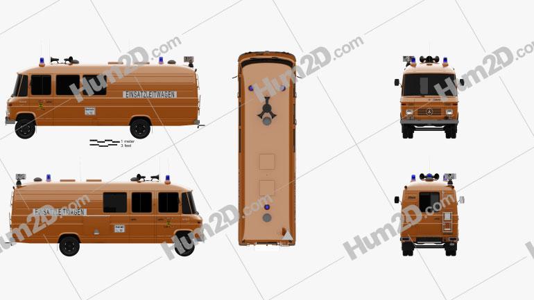 Mercedes-Benz L 508 D Emergency Command Vehicle 1978 clipart