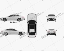 Mercedes-Benz E-Class (C238) Coupe AMG Line 2016 car clipart