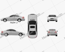 Mercedes-Benz CLK-Class (C209) Coupe 2005 car clipart