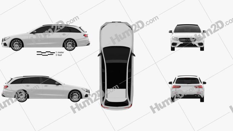 Mercedes-Benz E-Class (S213) AMG Line estate 2016 car clipart