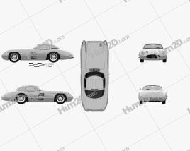 Mercedes-Benz SLR 300 Uhlenhaut Coupe 1955 car clipart